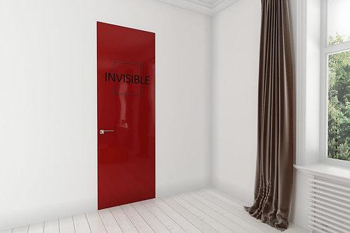 Скрытая дверь окрашенная.