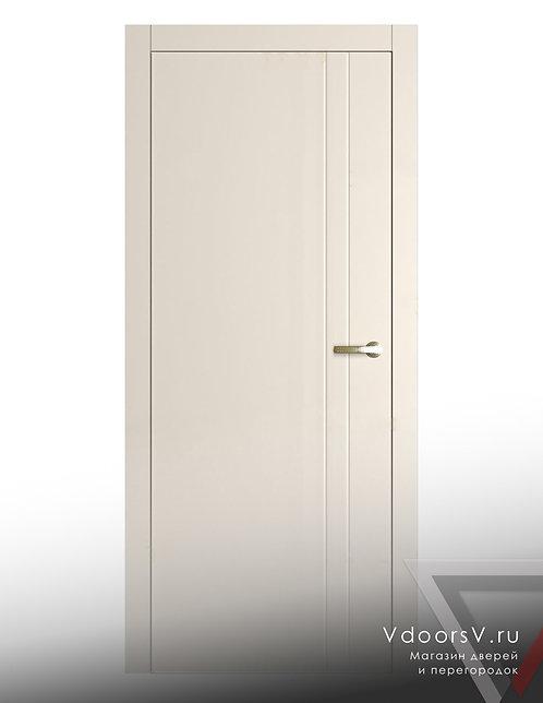 Окрашенная дверь V-2 RAL-9001.