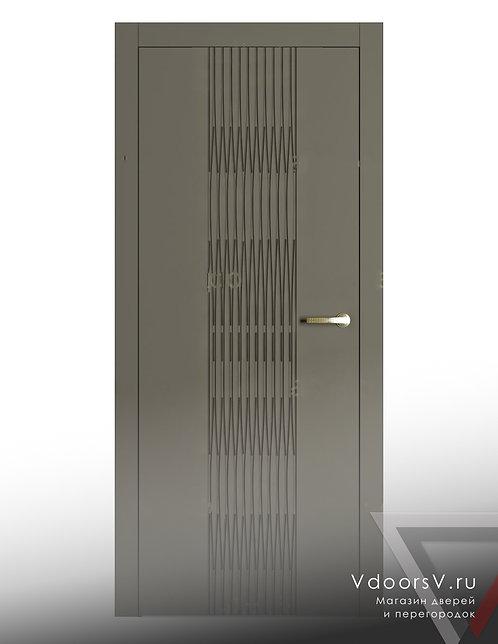 Окрашенная дверь Гауди 3D RAL-7039.