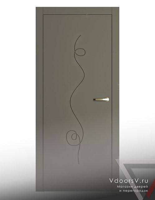 Окрашенная дверь Альфа RAL-7039