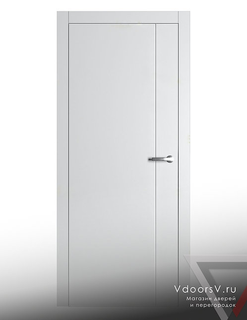 Окрашенная дверь V-1 RAL-белый.