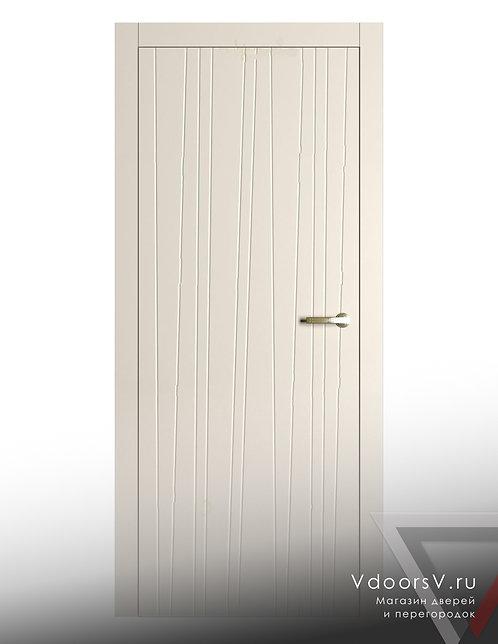 Окрашенная дверь Лиана RAL-9001.