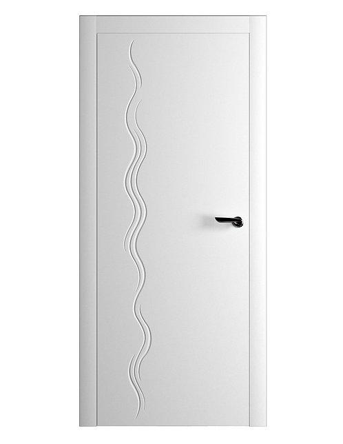 Окрашенная дверь NERUDA Рал-белый