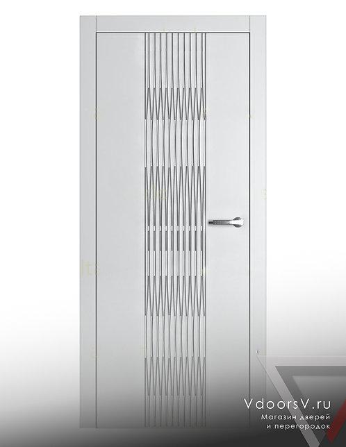 Окрашенная дверь Гауди 3D RAL-белый.