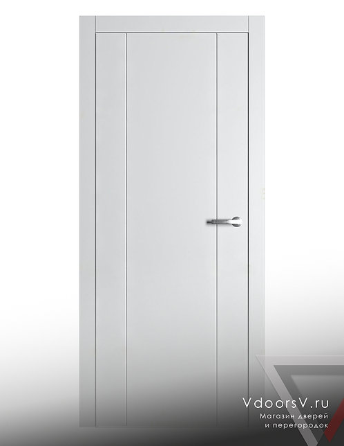 Окрашенная дверь V-11 RAL-белый.