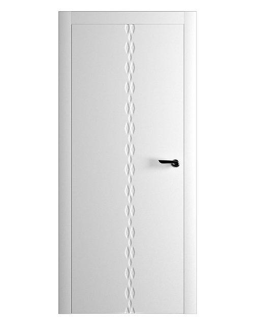 Окрашенная дверь KLEE Рал-белый