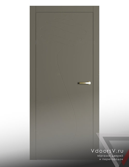 Окрашенная дверь 027 RAL-7039