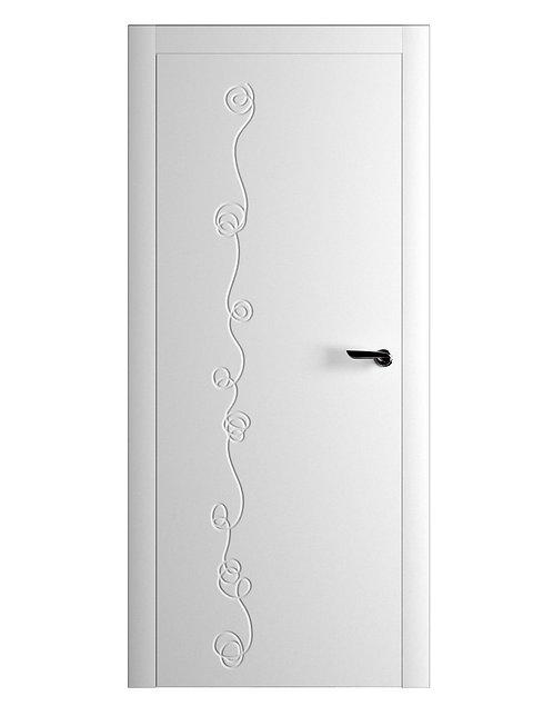 Окрашенная дверь LORCA Рал-белый