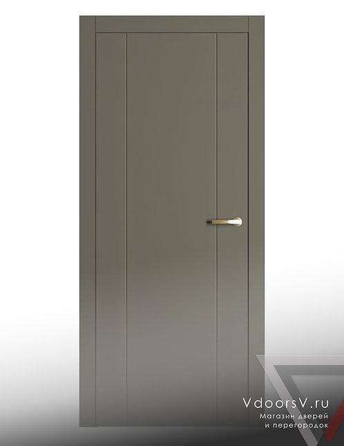 Окрашенная дверь V-11 RAL-7039.