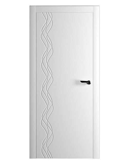 Окрашенная дверь BAROJA Рал-белый
