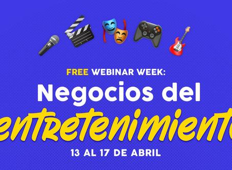 Semana de capacitación online gratuita en negocios del entretenimiento