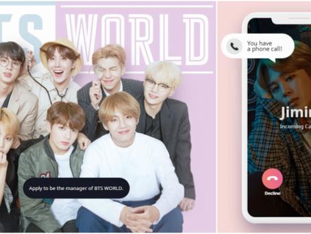 La banda de K-pop BTS en la palma de tu mano
