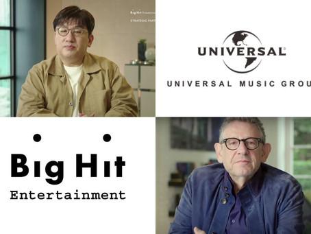 Universal Music y Big Hit Entertainment se unirán en proyecto histórico.
