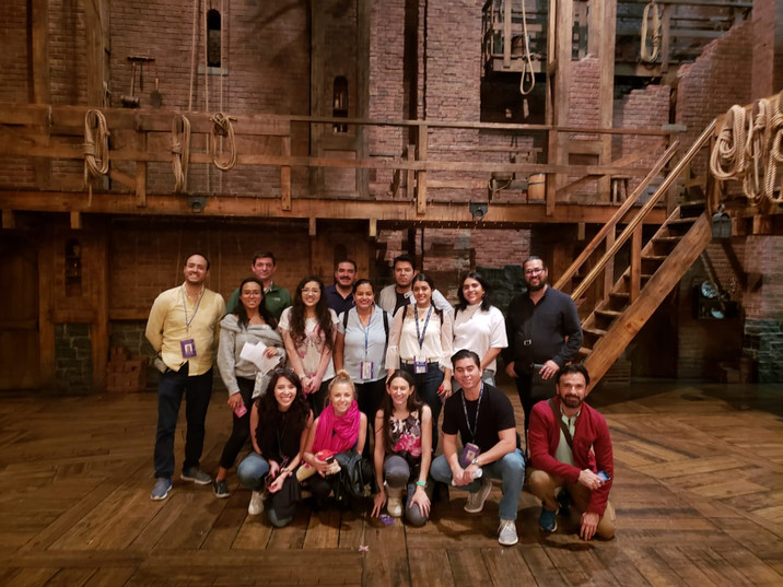 Backstage Hamilton el Musical