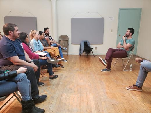 Masterclass con el actor y cantante Mauricio Martínez