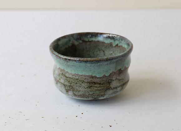 (美濃焼-野立碗) Minoyaki Chawan for Nodate- Ink Green