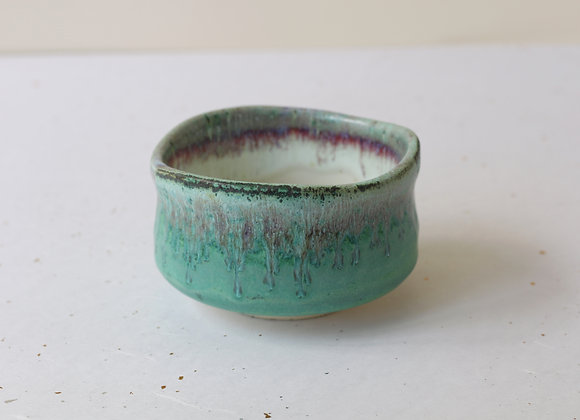 (美濃焼) Minoyaki Chawan for Nodate- Peacock Green
