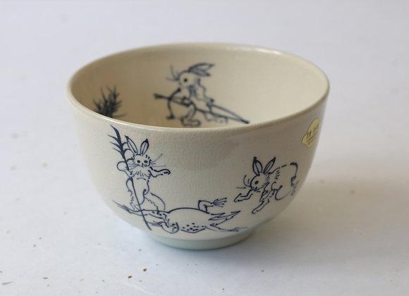 (京焼・清水焼) Kiyomizuyaki Chawan for Nodate- Ink Green