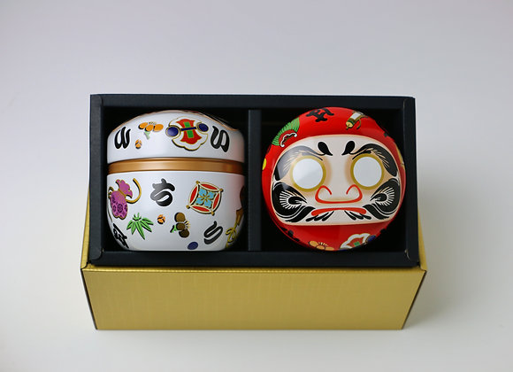 Daruma Doll Tea Canister Gift Set