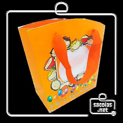 Sacola Festa Kids 18,5 x 14,4 x 8 cm (AxLxP) - pacote com 5 unidades
