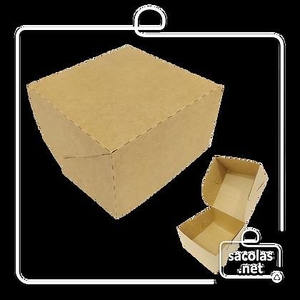 Caixa para Hamburguer 6,5 x 11,5 x 11,5 cm (AxLxP) - pacote com 100 unidades