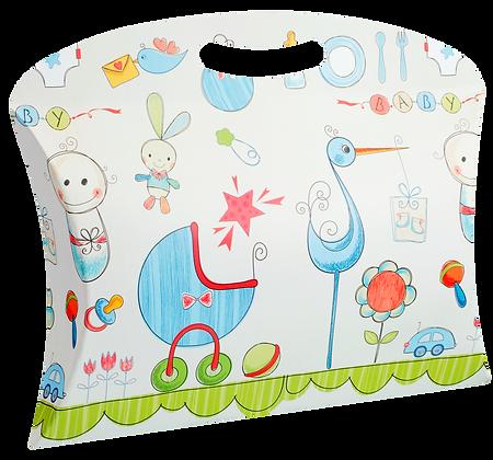 Caixa Maleta P Baby 20,5 x 26 x 5,5 cm (AxLxP) - pacote com 5 unidades