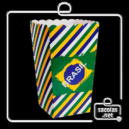 Caixa Pipoca Brasil 15 x 8,5 x 8,5 cm (AxLxP) - pacote com 5 unidades