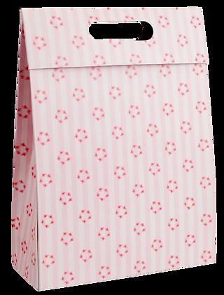 Sacola Caixa Flores 24 x 18 x 7 cm (AxLxP) - pacote com 5 unidades