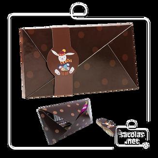 Env para Barra de chocolate 25,5x21x1cm