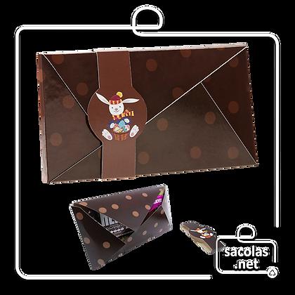 Envelope Chocolate 25,5 x 21 x 1 cm - pacote com 5 unidades