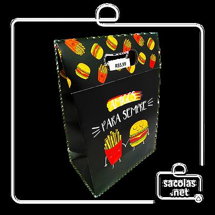 Sacola-Caixa Presente Amigos 24 x 17 x 9 cm (AxLxP) - pacote com 3 unidades