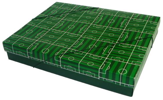 Caixa Presente Campo G Tampa e Fundo 36x28x6 cm - pacote com 3 unidades