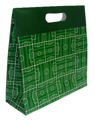 Sacola Caixa Copa Campo M 29 x 23 x 8 cm (AxLxP) - pacote com 5 unidades