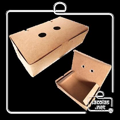 Caixa para Porção G 18 x 10 x 5 cm (LxPxA) - pacote com 100 unidades