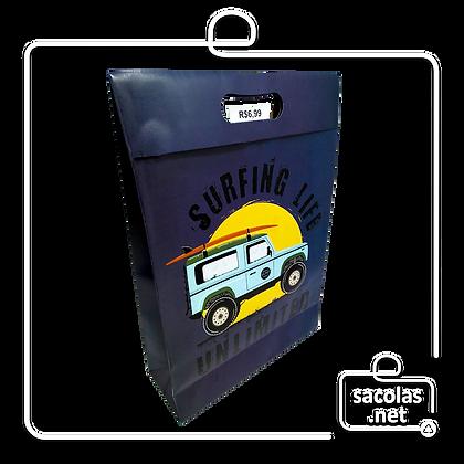 Sacola-Caixa Presente Jipe 37 x 26 x 9 cm (AxLxP) - pacote com 3 unidades