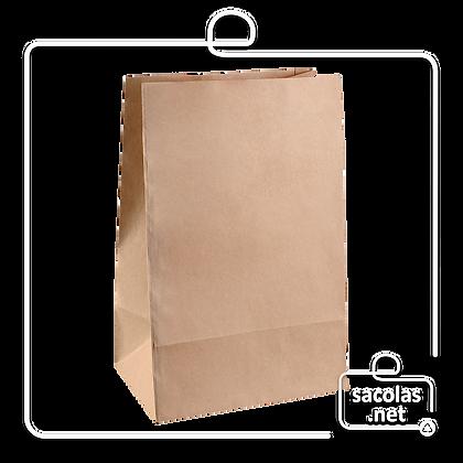 Saco Kraft Delivery 34 x 24 x 14,5 cm (AxLxP) - pacote com 100 unidades