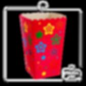 Cx Pipoca Estrela 15x8,5x8,5cm 6500-0048