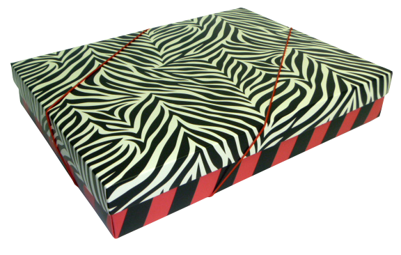 Caixa Presente Geom G Tampa e Fundo 36x28x6 cm - pacote com 3 unidades