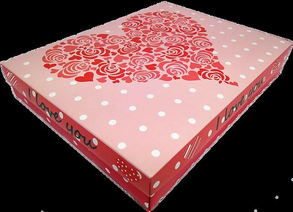 Caixa Presente Love G Tampa e Fundo 36x28x6 cm - pacote com 3 unidades