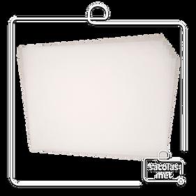 Papel anti gordura branco liso 30x40 cm