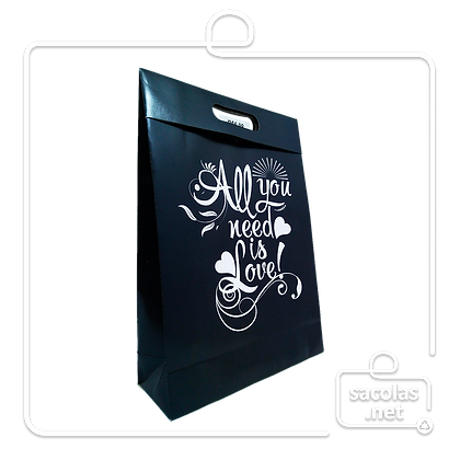 Sacola-Caixa Presente All You 37 x 26 x 9 cm (AxLxP) - pacote com 3 unidades