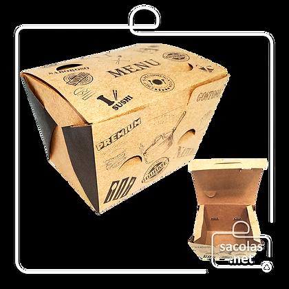 Caixa para Porção Menu P 8 x 11,5 x 9 cm (AxLxP) - pacote com 100 unidades