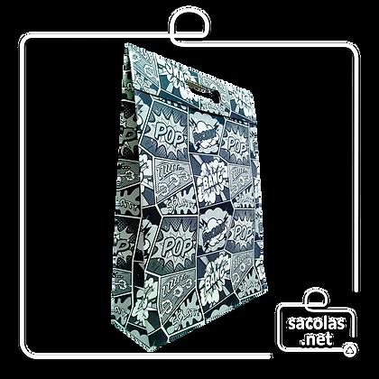Sacola-Caixa Presente Pop 37 x 26 x 9 cm (AxLxP) - pacote com 3 unidades