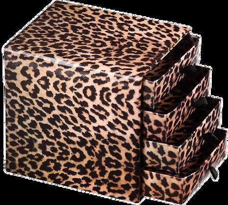 Mini Gaveteiro Onça 12 x 10,5 x 12 cm - pacote com 5 unidades
