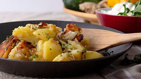käse, kartoffeln, käsekartoffeln, rezept des monats, kochen, app, kulinarik, kochbuch, kochanleitung
