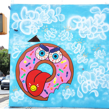 Donut Addiction Mural