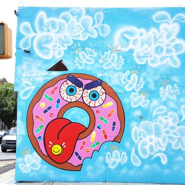 Donut Addiction Mural