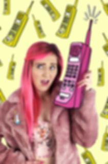 Pinky Weber Phone Illustration