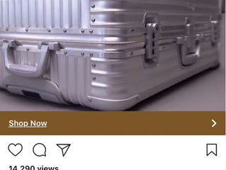 Rimowa Suits case scam site spotted again on Instagram