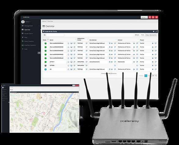 Celerway router, administration, nätverk